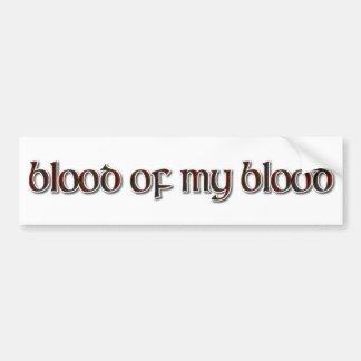 Tartán de Fraser: Sangre de mi sangre Pegatina Para Auto
