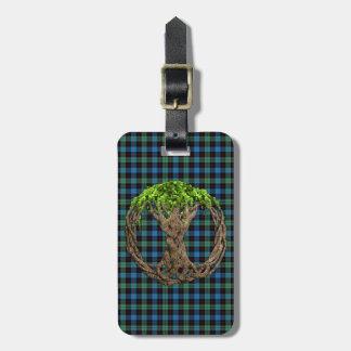 Tartán de Guthrie del clan y árbol de la vida Etiquetas Para Maletas
