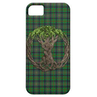 Tartán de Kennedy del clan y árbol de la vida iPhone 5 Funda
