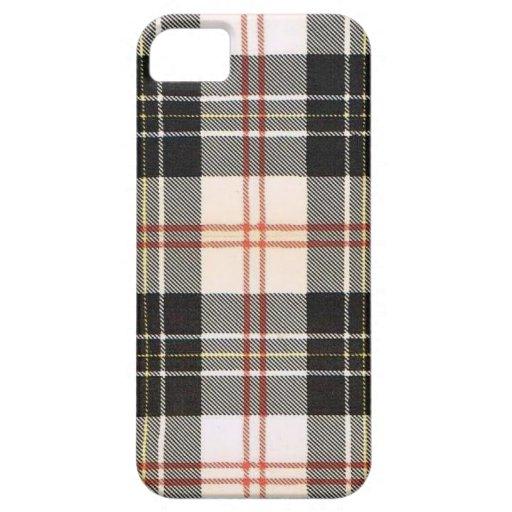 TARTÁN DE LA FAMILIA DE MACPHERSON - HERÁLDICA iPhone 5 CARCASAS
