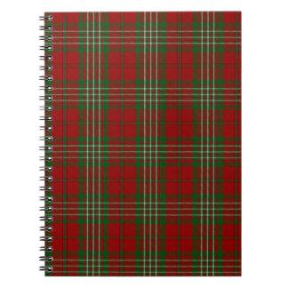 Tartán de la familia del clan de Scott Spiral Notebook