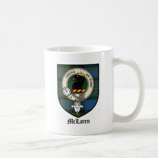 Tartán de la insignia del escudo del clan de McLar Taza