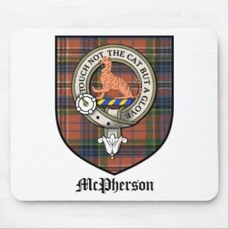 Tartán de la insignia del escudo del clan de McPhe Tapetes De Ratones