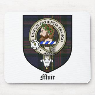 Tartán de la insignia del escudo del clan de Muir Alfombrillas De Raton