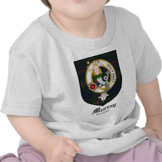Tartán de la insignia del escudo del clan de Murra Camisetas