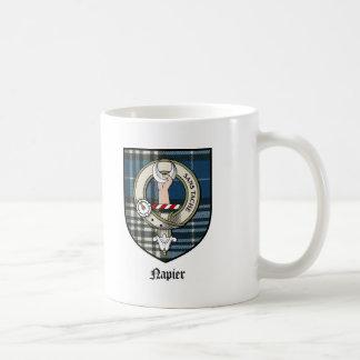 Tartán de la insignia del escudo del clan de Napie Taza