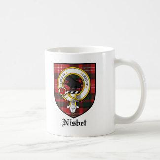 Tartán de la insignia del escudo del clan de Nisbe Taza