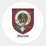 Tartán de la insignia del escudo del clan de pegatinas redondas