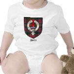 Tartán de la insignia del escudo del clan del trajes de bebé