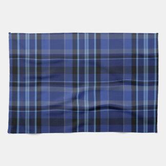 Tartán de la tela escocesa de los azules marinos toallas