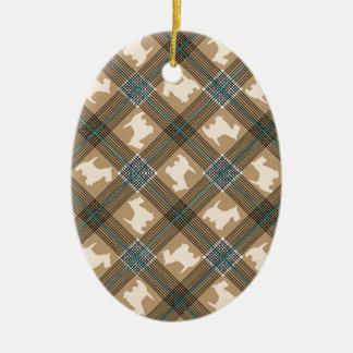 Tartán de la tela escocesa del perro del escocés adorno para reyes