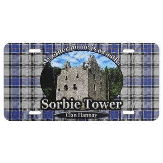 Tartán de la torre de Hannay Sorbie del clan Placa De Matrícula