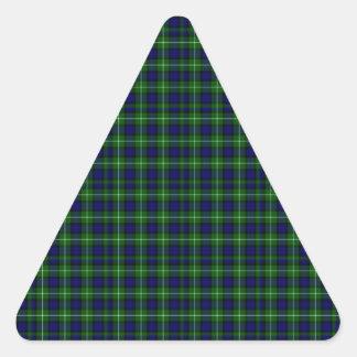 Tartán de Lamont Pegatina Triangular