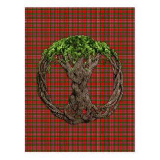 Tartán de MacAlister del clan y árbol de la vida Postal