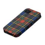 Tartán de Macbeth iPhone 4 Carcasas