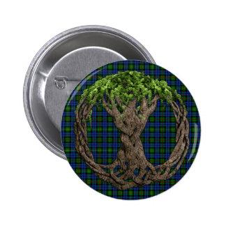 Tartán de MacEwan del clan y árbol de la vida célt Pin