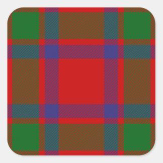 Tartán de Macintosh del clan Pegatina Cuadrada