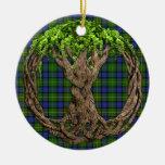 Tartán de Muir del clan y árbol de la vida céltico Ornamento Para Arbol De Navidad