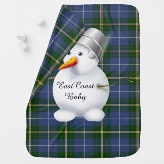 Tartán de Nueva Escocia del muñeco de nieve del Mantita Para Bebé