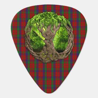 Tartán de Robertson del clan y árbol de la vida Uñeta De Guitarra