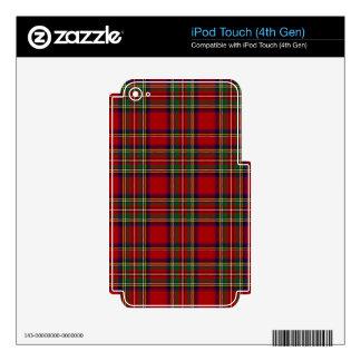Tartán de Stewart del clan de PixDezines Calcomanía Para iPod Touch 4G