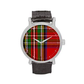 Tartán de Stewart del clan Reloj De Mano