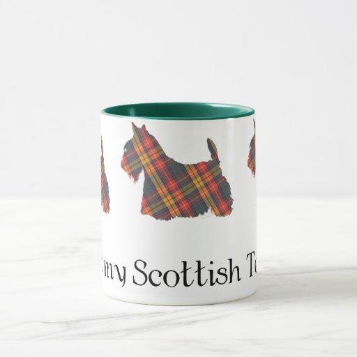 Tartán de Terrier Buchanan del escocés Taza