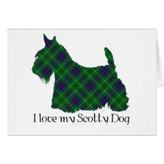 Tartán de Terrier Duncan del escocés Tarjeta De Felicitación