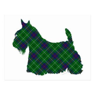Tartán de Terrier Duncan del escocés Postales