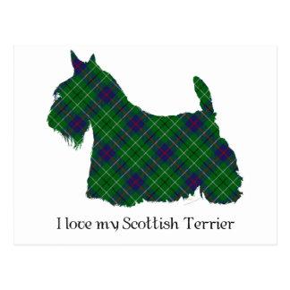 Tartán de Terrier Duncan del escocés Postal