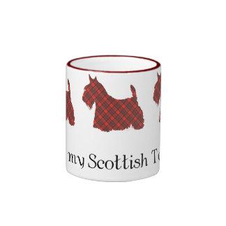 Tartán de Terrier Hepburn del escocés Taza