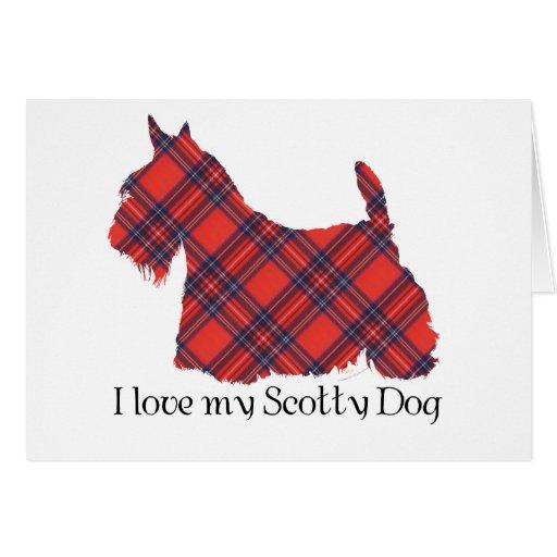 Tartán de Terrier Stewart del escocés Felicitación