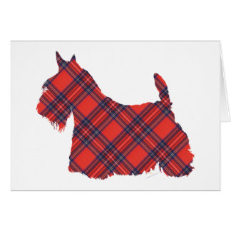 Tartán de Terrier Stewart del escocés Tarjeta De Felicitación