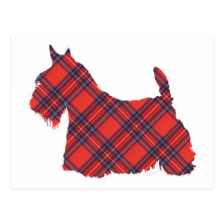 Tartán de Terrier Stewart del escocés Postal