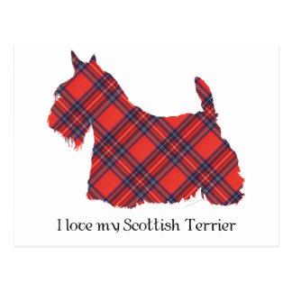 Tartán de Terrier Stewart del escocés Tarjeta Postal