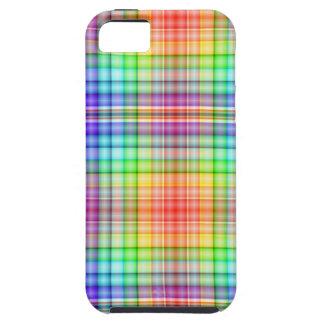 Tartán del arco iris iPhone 5 Case-Mate fundas