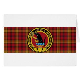 Tartán del clan de Rourke grande con el escudo gra Tarjeta De Felicitación