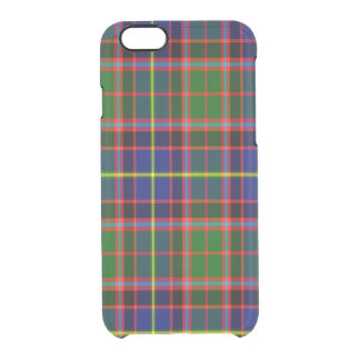 Tartán del escocés de Aikenhead Funda Clearly™ Deflector Para iPhone 6 De Uncommon