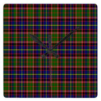 Tartán del escocés de Aikenhead Reloj Cuadrado