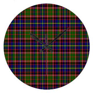 Tartán del escocés de Aikenhead Reloj Redondo Grande