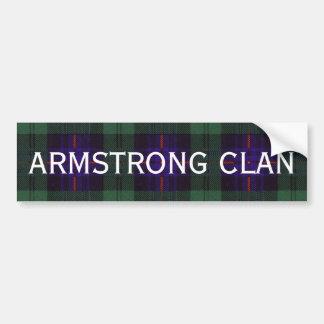 Tartán del escocés de Armstrong Pegatina Para Auto
