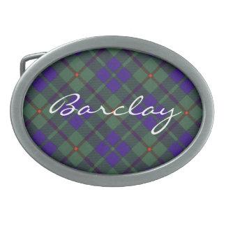 Tartán del escocés de Barclay Hebillas De Cinturon Ovales