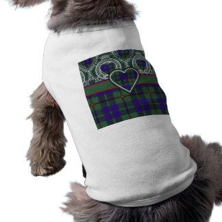Tartán del escocés de Barclay Playera Sin Mangas Para Perro
