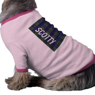 Tartán del escocés de Barclay Camiseta Con Mangas Para Perro