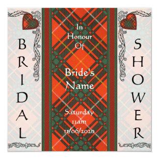 """Tartán del escocés de Bruce Invitación 5.25"""" X 5.25"""""""