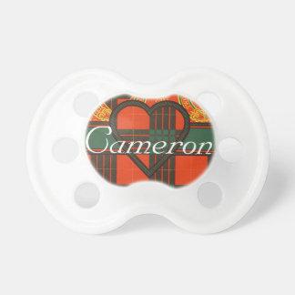 Tartán del escocés de Cameron Chupetes De Bebé