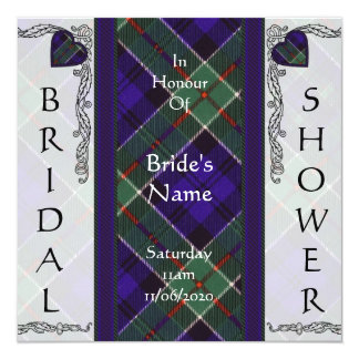 """Tartán del escocés de Colquhoun Invitación 5.25"""" X 5.25"""""""