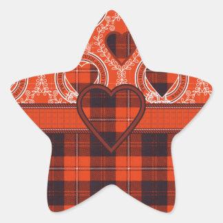 Tartán del escocés de Cunningham Pegatina En Forma De Estrella