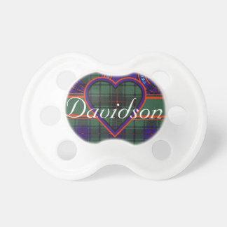 Tartán del escocés de Davidson Chupete De Bebé