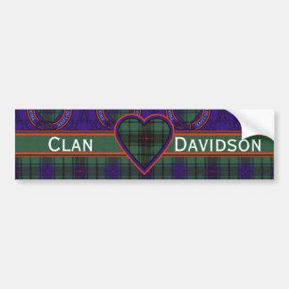 Tartán del escocés de Davidson Pegatina Para Auto